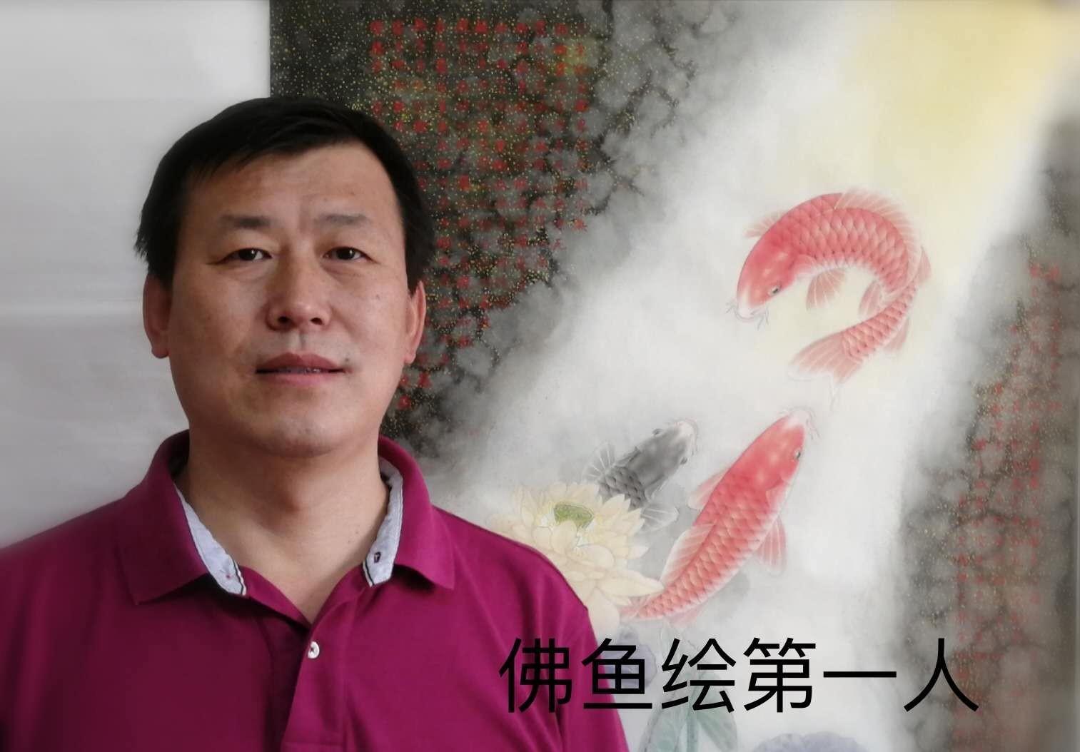 """作品 被誉为当代画""""佛鱼""""第一人、青年画家李先峰作品欣赏"""